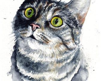 5x7 Original Custom Watercolour Pet Portraits