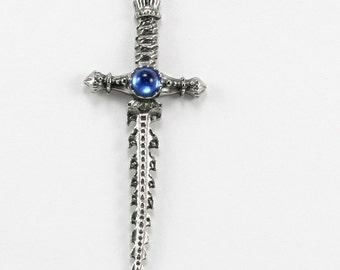 Fine Pewter Sword Necklace