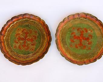 Florentine tray matching pair