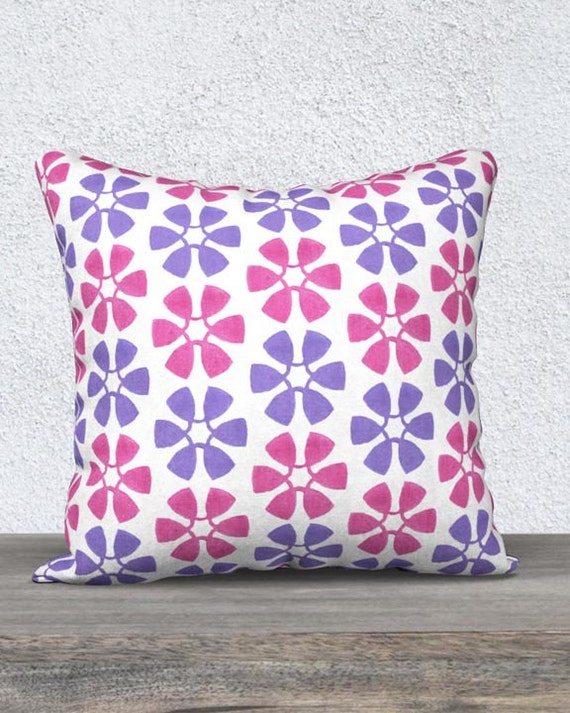Playroom Pillow Case for Kids; Pink and Purple
