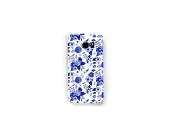 Samsung Galaxy Snap Phone Case, printed phone case, floral phone case, blue flowers, rose phone case, cute phone, for her, flower case
