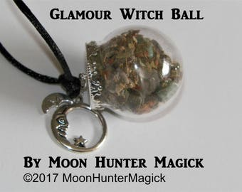 Glamour Charm Illusion Amulet Mini Witch Ball Witch Bottle Pagan Wicca Reiki