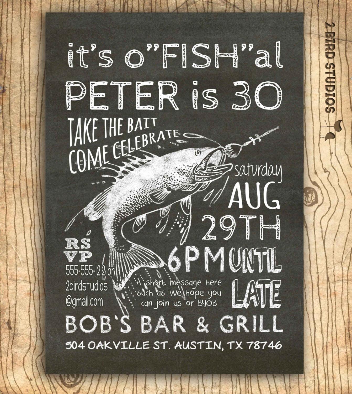 Fishing invitation th birthday invitation th th
