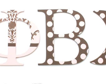custom wood greek letters choose your letters choose design greek wall letters standing
