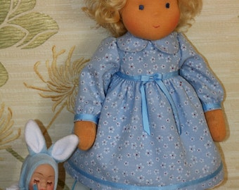 Waldorf doll natural hair  15-16  inches Doll Ninochka - gift for girls
