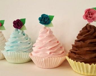 Rose Flowers Cupcake toppers birthday tea party food picks