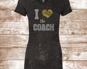 Football Bling Shirt - I HEART The Coach - Heart - Football Coach - LOVE Football Shirt - Football Mom Shirt - Football Players - Southern