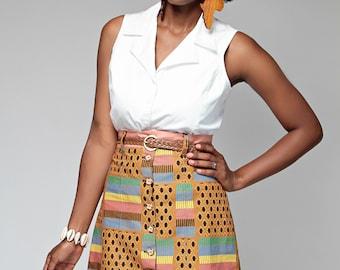 Anuli Button Skirt