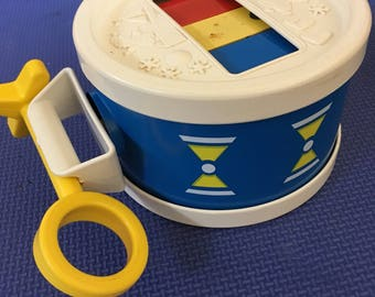 1970's Vintage Fisher Price Childs Drum & Xylophone