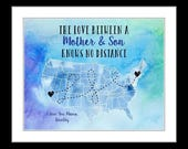 Mothers day from son, bithday gift ideas, mom gifts, for mom from daughter gifts, mom gifts for mom wedding, any state country, usa map art