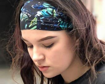 Monarch Butterfly Headband - Butterfly running headband for yoga fitness -  Non Slip - Stretchy - Women & Kids Headband - Grunge - MONARCH