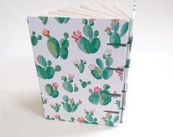 A6 Cacti Coptic Sketchbook
