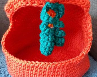 Handmade crochet cat bed or small animal bed-play pen bed for small animals or cat-play cat bed-cat den