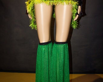 Temple Leg Flares Elven Forest Festival Clothing Fluffies