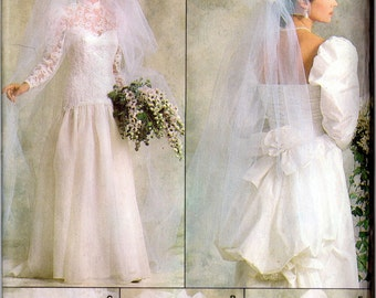 Vogue 9822 Retro 1980s Veil, Headpiece, and Bridal Hat Sewing Pattern