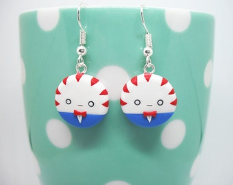 Adventure Time Peppermint Butler polymer clay earrings