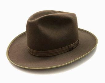 Vintage Borsalino Allessandria Hat | Size 7 | Bogart Hat Fedora Italy