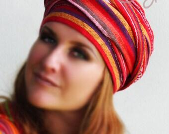 Tribal Hippie Hat, Tribal Hair Wrap, Hippie Hat, Hippie Hair Wrap, Boho Hair Wrap, Womens Hat, Mens Hat, Mens Turban, Head Wrap, Hair Wrap