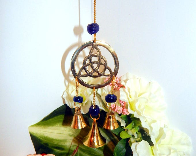 ALTAR DECOR Chime Celtic Knot Triquetra - Indoor Outdoor Home decor wind chime bells