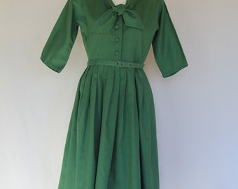 1950's Green Day Dress