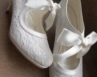 SALSA Wedding shoes, Bridal shoes, Handmade embroidery ivory wedding shoes SALSA designed specially  #7011
