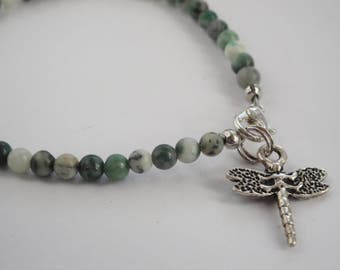 Ching Hai Jade and Dragonfly Bracelet