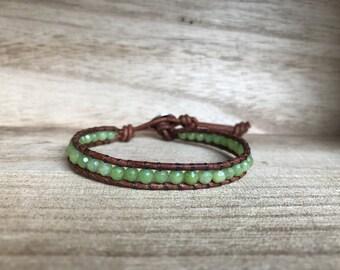 Chartreuse Single Wrap Bracelet