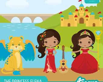 The Princess Elena Clipart Set - Instant Download - PNG Files.