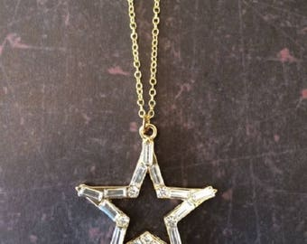 Star Necklace - Star Necklace Gold - Star Jewelry - Star Pendant - Star Pendant Necklace - Elegant Necklace - Elegant Jewelry - Necklace