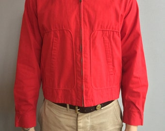 Dan River Bright Red Jacket with two front slash pockets Badger High Band Lake Geneva, Wis.
