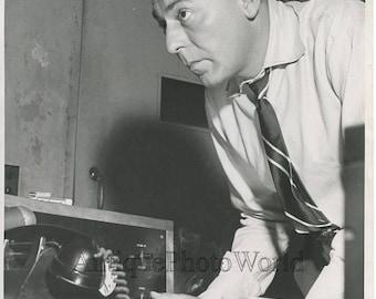 Woody Herman clarinet player on radio set antique music photo
