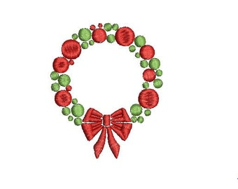 Christmas Wreath Frame Design File for Embroidery Machine Monogram Applique Instant Download