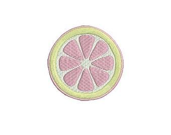 Lemon Mini Pink Lemonade Preppy Design File for Embroidery Machine Monogram Applique Instant Download