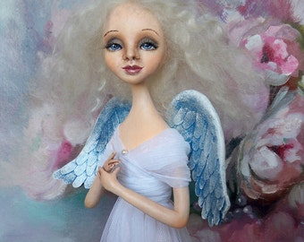 "OOAK Art doll ""Angel"" Handmade doll OOAK doll Art doll Collectible doll Interior doll"