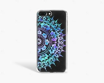 Summer iPhone 7 Case Clear Mandala iPhone 7 Plus Case Bohemian iPhone 6 Case iPhone 6s Case Blue Samsung Galaxy Galaxy S/ Edge Case Clear