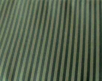 Destash - Three Yards by 60 Inches Upholstery Fabric, Medium Weight, Two Toned Green, Tuxedo Stripe