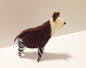 Okapi in felt