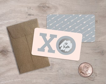 10 Scratch-off Valentines, Love Notes, Boxed Valentine Cards
