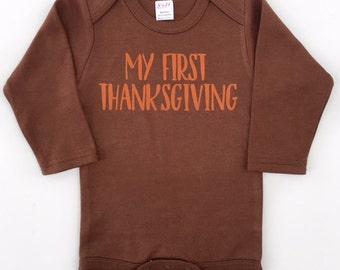 My First Thanksgiving, Boys Thanksgiving Shirt, Baby First Thanksgiving Outfit, Baby Boy Clothes, Newborn Thanksgiving, Thanksgiving Shirt