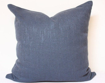 "Navy Blue pillow - 18""x18"" Navy blue pillow, solid blue pillow cover, blue pillow, READY TO SHIP!"