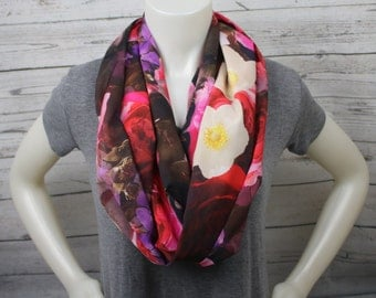 Floral Lightweight Extra Long Infinity Scarf