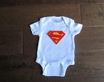 Superman baby, superman shirt, newborn superhero, baby outfit