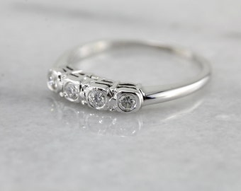 Sparkling Diamond Anniversary or Wedding Band in White Gold 7Q51KU-R