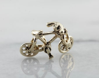Moving Wheels, Gold Bicycle Charm HUWJQ9-D