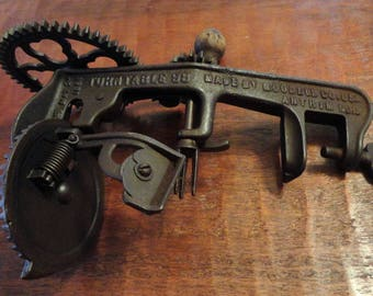 """ANTIQUE Goodell Co. Antrim, NH """"Turntable 98"""" Apple Peeler - """"Pat. May 24, 1898"""""""