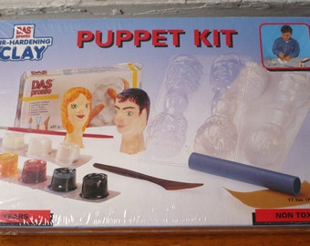 Vintage DAS Clay Modeling Puppet Kit New Sealed Box 1993