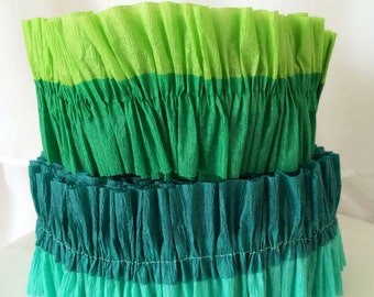 Under the Sea Double-Layer Ruffled Crepe Paper Streamers- MADE TO ORDER