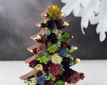 Christmas decoration - Christmas tree light - artificial succulent tree - marquee lights - christmas lights