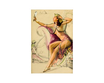 Pin Up Girl  The Egyptian - Vintage Poster Print Retro Style Art Decoration US Free US Post Low EU Post