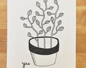 Stay Positive drawing